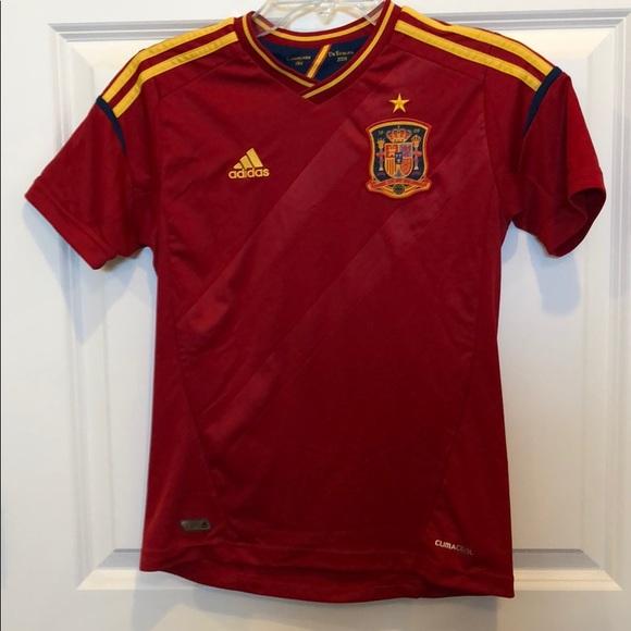 Adidas Spain YM soccer jersey